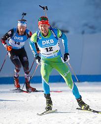Jakov Fak of Slovenia competes during the IBU World Championships Biathlon 15 km Mass start Men competition on February 21, 2021 in Pokljuka, Slovenia. Photo by Vid Ponikvar / Sportida