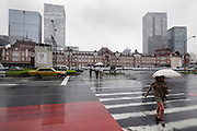 renovated Tokyo Station street view Japan