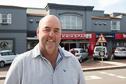 """South Africa - Plettenberg Bay - 8 May 2020 - The Kwikspar in Plettenberg Bay, Beacon Isle KWIKSPAR, owned by Duncan Brown (pictured), has set up a special table to promote and sell products from local businesses that are unable to trade under the lockdown regulations. A sign on the table reads """"Support our Local Businesses. All items on this table are supplied by local restaurants. They are still unable to welcome you into their businesses. Kwikspar will not add any markup to these products, and all sales will go directly to them."""" South Africa is currently under lockdown in an attempt to flatten the curve to halt the spread of the COVID-19 coronavirus pandemic. Picture: David Ritchie/African News Agency(ANA)"""