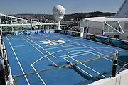 Royal Caribbean International's  Independence of the Seas, the world's largest cruise ship.....Sports court *** Local Caption *** Sports court