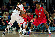 DALLAS, TX - JANUARY 4: Shawn Williams #2 of the SMU Mustangs defends against the Connecticut Huskies on January 4, 2014 at Moody Coliseum in Dallas, Texas.  (Photo by Cooper Neill) *** Local Caption *** Shawn Williams