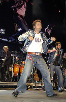 Lance Bass of NSYNC performing on the United We Stand: What More Can I Give? Concert. A music benefit in support of the recovery efforts from the September 11 attack on America.  The proceeds will go to various Relief Funds. October 21, 2001