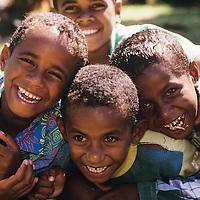 Fiji Islands, Fiji Islands, Yasawa Islands, resort detail, tiki, native island boys mugging for camera