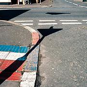 Pavement markings.