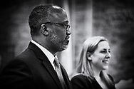 Levittown, New York, USA. June 4, 2018. Debate between Congressional District 2 Democratic primary candidates Suffolk County Legislator DuWayne Gregory and Liuba Grechen Shirley, held by Seaford Wantagh Democratic Club at Levittown Hall.