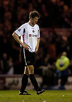 Photo: Jed Wee.<br /> Middlesbrough v Charlton Athletic. The FA Cup. 12/04/2006.<br /> <br /> Charlton captain Hermann Hreidarsson feels the disappointment as they are knocked out of the FA Cup.
