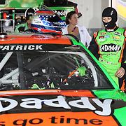 Racecar driver Danica Patrick is seen during the  56th Annual NASCAR Daytona 500 practice session at Daytona International Speedway on Wednesday, February 19, 2014 in Daytona Beach, Florida.  (AP Photo/Alex Menendez)