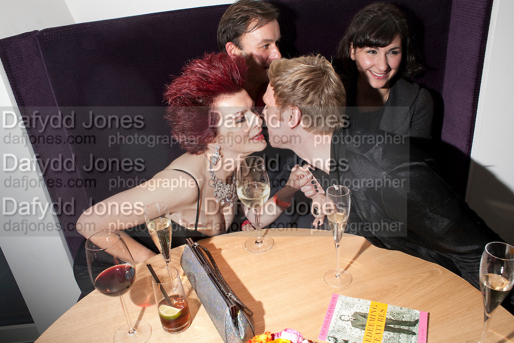 CLEO ROCOS; ( STEPHEN FLETCHER; LUCY FREEDMAN; )HENRY CONWAY, Launch of Nicky Haslam's book Redeeming Features. Aqua Nueva. 5th floor. 240 Regent St. London W1.  5 November 2009.  *** Local Caption *** -DO NOT ARCHIVE-© Copyright Photograph by Dafydd Jones. 248 Clapham Rd. London SW9 0PZ. Tel 0207 820 0771. www.dafjones.com.<br /> CLEO ROCOS; ( STEPHEN FLETCHER; LUCY FREEDMAN; )HENRY CONWAY, Launch of Nicky Haslam's book Redeeming Features. Aqua Nueva. 5th floor. 240 Regent St. London W1.  5 November 2009.