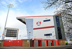 General view of Kingsholm stadium -Mandatory by-line: Nizaam Jones/JMP- 16/12/2017 - RUGBY - Kingsholm - Gloucester, England - Gloucester Rugby v Zebre Rugby Club- European Rugby Challenge Cup