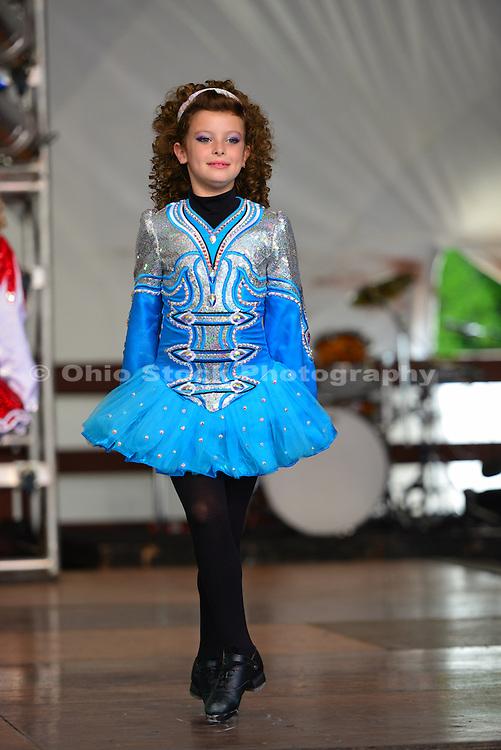 Photo of girl dancing at the Dublin Irish Festival in Dublin, Ohio.