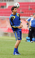 Photo: Chris Ratcliffe.<br />Sweden Training Session. FIFA World Cup 2006. 19/06/2006.<br />Zlatan Ibrahimovic in training.