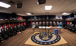 May 28, 2018 - Chester, PA, USA - Chester, PA - Monday May 28, 2018: USMNT locker room during an international friendly match between the men's national teams of the United States (USA) and Bolivia (BOL) at Talen Energy Stadium. (Credit Image: © John Dorton/ISIPhotos via ZUMA Wire)