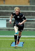Ferns Liz Milne training. Football Ferns Media and Training Session, QBE Stadium Auckland, Wednesday 12th November 2014. Photo: Shane Wenzlick
