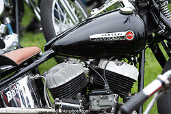 A Bobbers MC Flathead custom in the Twin Club's annual Custom Bike Show in Norrtälje, Sweden. Saturday, June 1, 2019. Photography ©2019 Michael Lichter.