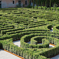 VENICE, ITALY - JUNE 16:  A geneal view of The Borges Labyrinth at Fondazione Cini on June 16, 2011 in Venice, Italy. To mark the 25th anniversary of the death of celebrated Argentinian writer Jorge Luis Borges the Fundación Internacional Jorge Luis Borges and the Giorgio Cini Foundation created The Borges Labyrinth, a reconstruction of the maze that architect Randoll Coate designed in the writer's honour. The Giorgio Cini Foundation (Italian Fondazione Giorgio Cini), or just Cini Foundation, is a cultural foundation founded April 20, 1951 in memory of Count Giorgio Cini.