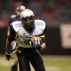 2008 December 13: Hurricanes running back Lyle Fitte runs with the ball during the Class 1A LHSAA State Championship game, a 62-16 victory by the South Plaquemines Hurricanes over Christian Life Academy at the Louisiana Superdome in New Orleans, LA. On February 4, 2009 Fitte signed to play college football at Louisiana Tech Universtity. (photo by Derick Hingle)