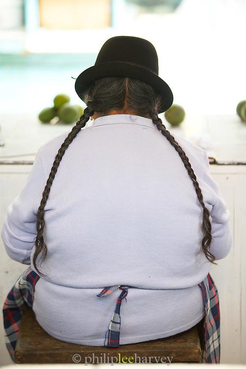 Vegetable seller, Otavalo food Market, Ecuador, South America