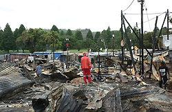 South Africa - Durban - 26 October 2020 - Hundreds of New Germany informal settlement near Reservoir hills were reduced to ashes on Monday night. Almost a thousand of people lost their homes in the process<br /> Picture: Doctor Ngcobo/African News Agency(ANA)