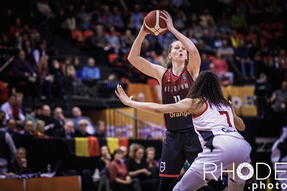 Emma Meesseman (BEL)    <br /> <br /> Day 1 – CANADA (CAN) vs BELGIUM (BEL): 61-56<br /> <br /> FIBA Women's Olympic Qualifying Tournament 2020 – Ostend,  Belgium<br /> Ostend Versluys Dôme (BEL)<br /> <br /> ©RhodePhotoMedia