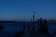 Crater Lake beneath the stars