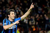 Fotball<br /> Italia<br /> Foto: Insidefoto/Digitalsport<br /> NORWAY ONLY<br /> <br /> esultanza di diego milito dell'inter<br /> <br /> 31.03.2010<br /> Inter v CSKA Mosca<br /> Champions League 2009/2010