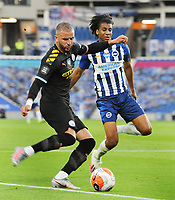 Football - 2019 / 2020 Premier League - Brighton & Hove Albion vs Manchester City<br /> <br /> <br />  Kyle Walker of Man City and Bernardo of Brighton  , at the Amex Stadium<br /> <br /> COLORSPORT/ANDREW COWIE