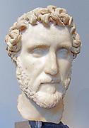 Marble portrait of the emperor Antoninus Pius. Roman, ca. A.D. 138–161