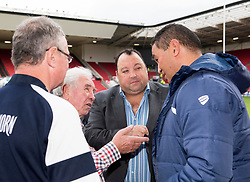 Bristol Rugby Head Coach Pat Lam chats with guests of matchday sponsor W.S.S.I. Limited - Mandatory by-line: Paul Knight/JMP - 22/10/2017 - RUGBY - Ashton Gate Stadium - Bristol, England - Bristol Rugby v Doncaster Knights - B&I Cup