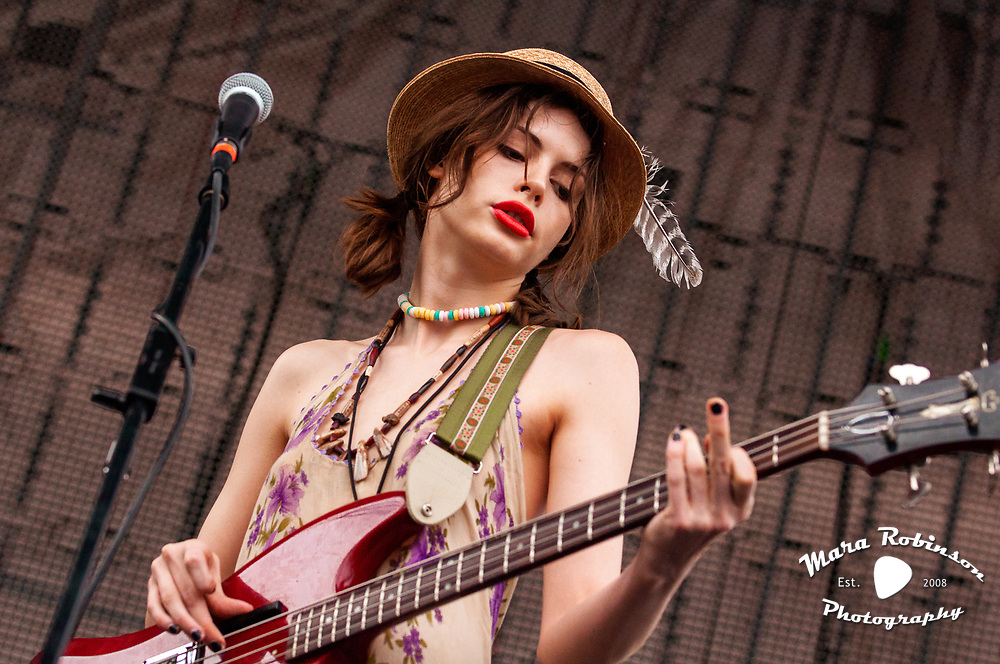 Charlotte Kemp Muhl, The Ghost of a Saber Tooth Tiger (The GOASTT), at Nelsonville Music Festival 2011, concert photography by Akron music photographer, Cleveland music photographer Mara Robinson