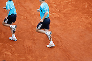 Roland Garros. Paris, France. June 3rd 2008..Ball boys...