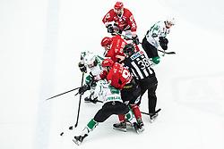CEPON Kristjan vs DJUMIC Mirko during Alps League Ice Hockey match between HDD SIJ Jesenice and HK SZ Olimpija on March 2, 2020 in Ice Arena Podmezakla, Jesenice, Slovenia. Photo by Peter Podobnik / Sportida