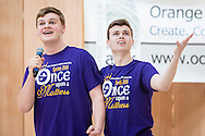 """Town of Wallkill, New York -   Washingtonville High School students sing a song from """"Once Upon A Mattress"""" during the Orange County Arts Council's All-County High School Musical Showcase and Arts Display at the Galleria at Crystal Run on Feb. 27, 2016."""