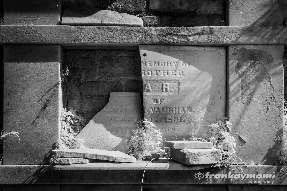 Infrared images of Lafayette #1 Cemetery in New Orleans, LA