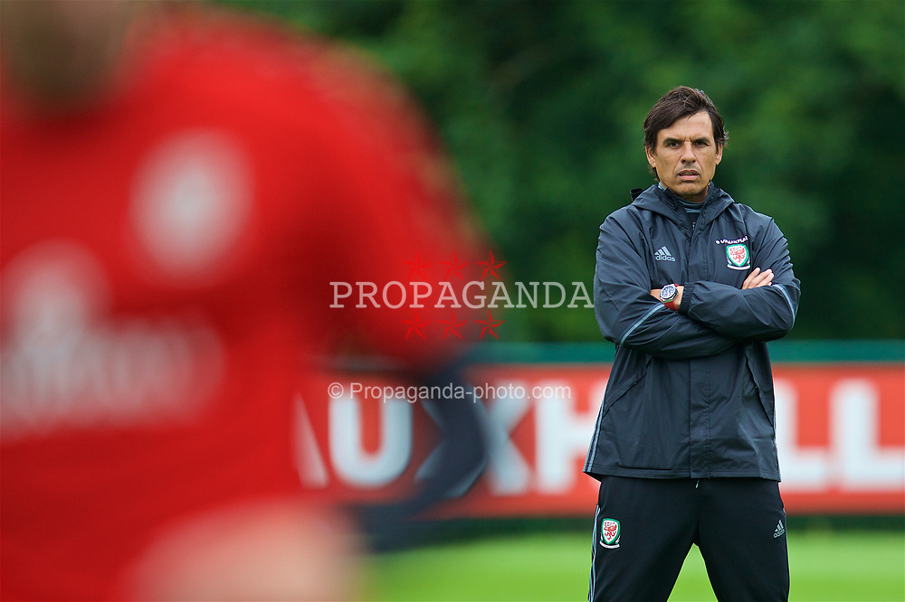 CARDIFF, WALES - Saturday, June 10, 2017: Wales' manager Chris Coleman during a training session at the Vale Resort ahead of the 2018 FIFA World Cup Qualifying Group D match against Serbia. (Pic by David Rawcliffe/Propaganda)