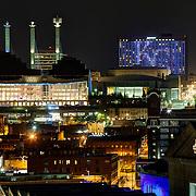 Kansas City Landmarks in Royal Blue