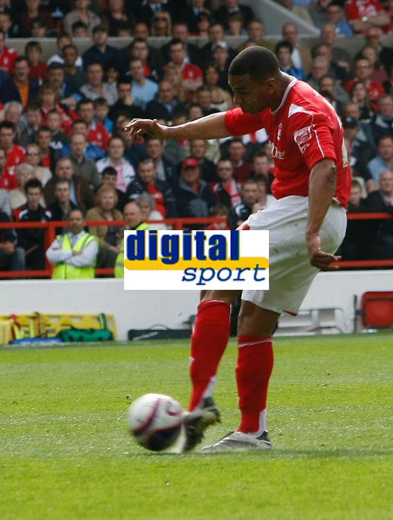 Photo: Steve Bond/Richard Lane Photography. <br />Nottingham Forest v Yeovil Town. Coca-Cola Football League One. 03/05/2008. Julian Bennett lines up his shot to score the opener