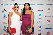 British artistic gymnasts Becky Downie left and Ellie Downie at Team GB's annual ball at Old Billingsgate on the 21st November 2019 in London in the United Kingdom.
