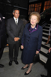 JEREMY GORING and BARONESS THATCHER at the Goring Hotel Summer party, Goring Hotel, 15 Beeston Place, London on 17th September 2008.