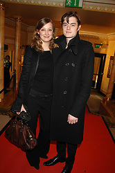 Alexandra Maria Lara and Sam Riley at the South Bank Show Awards held at The Dorchester, Park Lane, London on 29th January 2008.<br />