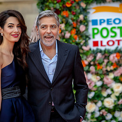 George and Amal Clooney arrive at the People's Postcode Lottery charity gala