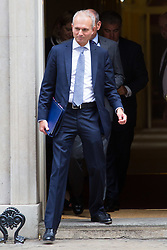 London, July 4th 2017. Lord Chancellor and Secretary of State for Justice David Lidington leaves the weekly cabinet meeting at 10 Downing Street in London.