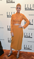 POPPY DELEVINGNE at the 17th Elle Style Awards 2014 in association with Warehouse held at One Embankment, 8 Victoria Embankment, London on 18th February 2014.