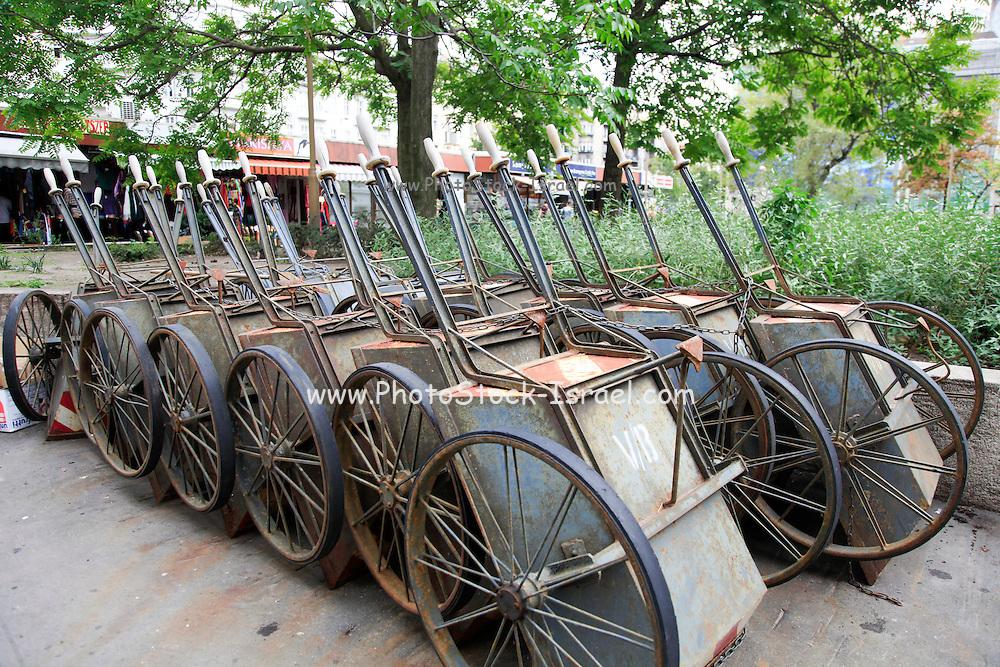Unused carts, Budapest, Hungary