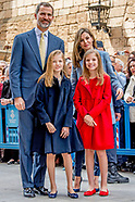 SPANISCH ROYALS ATTENDS EASTERN MASS IN PALMA DE MALLORCA 2017