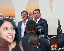 July 22, 2019 - Los Angeles, CA, USA - LOS ANGELES - JUL 22:  Brad Pitt, Leonardo DiCaprio at the ''Once Upon a Time in Hollywood'' Premiere at the TCL Chinese Theater IMAX on July 22, 2019 in Los Angeles, CA (Credit Image: © Kay Blake/ZUMA Wire)