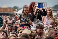 © Licensed to London News Pictures . 07/06/2014 . Heaton Park , Manchester , UK . Crowd for Foxes .  Parklife music festival in Heaton Park Manchester following heavy overnight rain . Photo credit : Joel Goodman/LNP