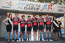 February 14, 2018 - Lagos, Portugal - BMC Racing Team before the 1st stage of the cycling Tour of Algarve between Albufeira and Lagos, on February 14, 2018. (Credit Image: © Str/NurPhoto via ZUMA Press)