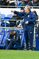 Football - 2018 / 2019 Premier League - Cardiff City vs. Chelsea<br /> <br /> Cardiff City manager Neil Warnock on the touchline, Chelsea manager Maurizio Sarri in background  at Cardiff City Stadium.<br /> <br /> COLORSPORT/WINSTON BYNORTH