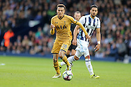 Dele Alli of Tottenham Hotspur in action.Premier league match, West Bromwich Albion v Tottenham Hotspur at the Hawthorns stadium in West Bromwich, Midlands on Saturday 15th October 2016. pic by Andrew Orchard, Andrew Orchard sports photography.