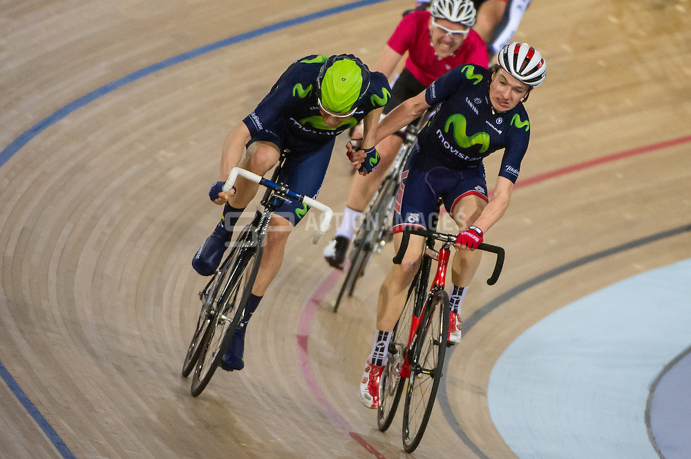 Monday Night Full Gas Track League, Lee Valley Velodrome, London, UK on 30 March 2015. Photo: Simon Parker